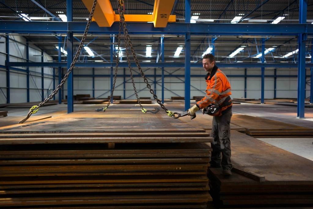 40000 ton staalplaten opslag ASS